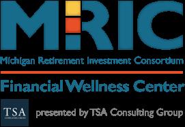 Logo for MRIC Financial Wellness Center presented by TSA Group